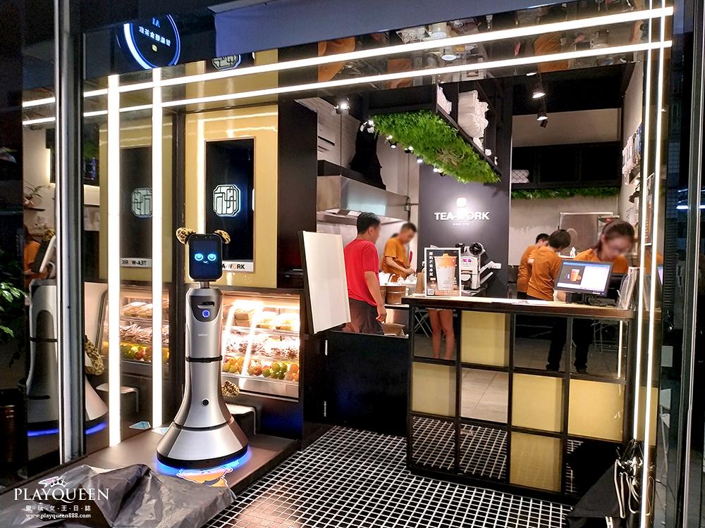 TEAWORK 台中南屯區,台中早午餐全新開幕,椰奶芒果冰泥買一送一,敲可愛AI智慧點餐機器人!