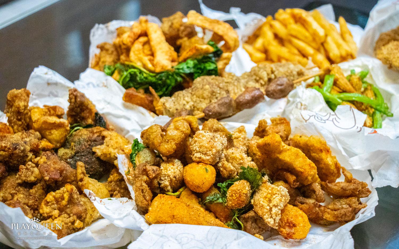 熊掌香雞排鹹酥雞,收驚問世雞排店,台中市西區萬惡宵夜美食,脫油程序去油膩更健康