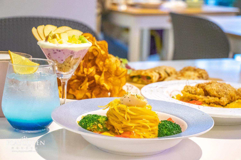 藍洋洋lazy brunch,台北三重菜寮早午餐,親子餐廳推薦,超夢幻海洋風,IG網紅必訪早午餐!