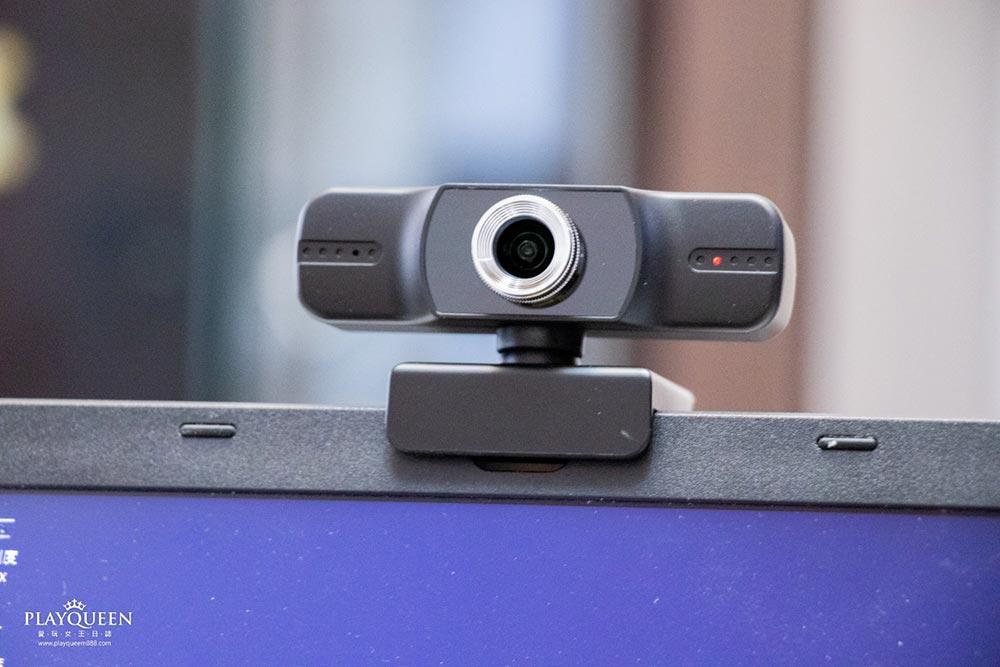 Webcam T1超廣角網路攝影鏡頭│內置HD麥克風,遊戲直播、視訊教學、線上會議,高清攝影機