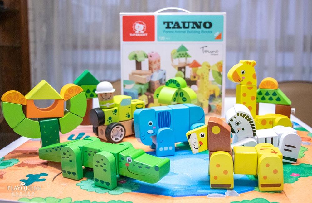 台灣樂貝特│可愛動物森林組合積木,木製積益智玩具,顏色辨認、感官發展、語言訓練、字母學習