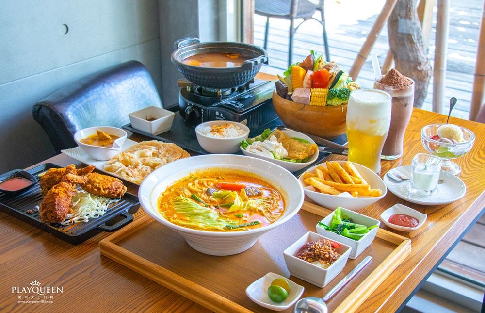 熱浪島|南洋蔬食茶堂,台中美食新指標,超人氣蔬食美味,一吃上癮的異國料理親子餐廳