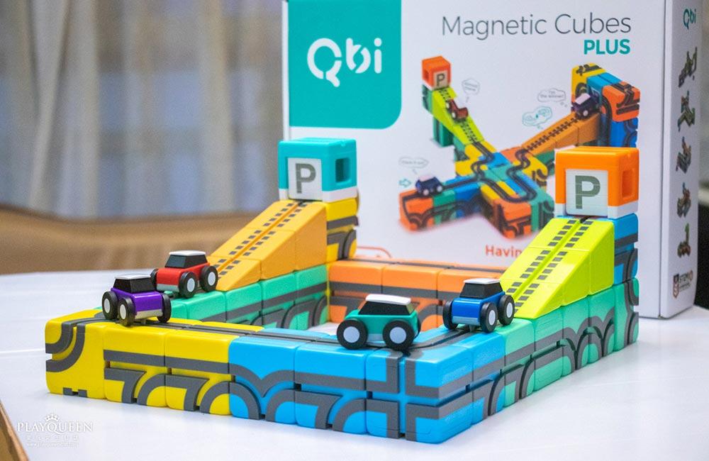 Qbi 益智磁吸軌道玩具│磁吸方塊積木、幾何概念,培養寶寶想像力與創造力的益智玩具!