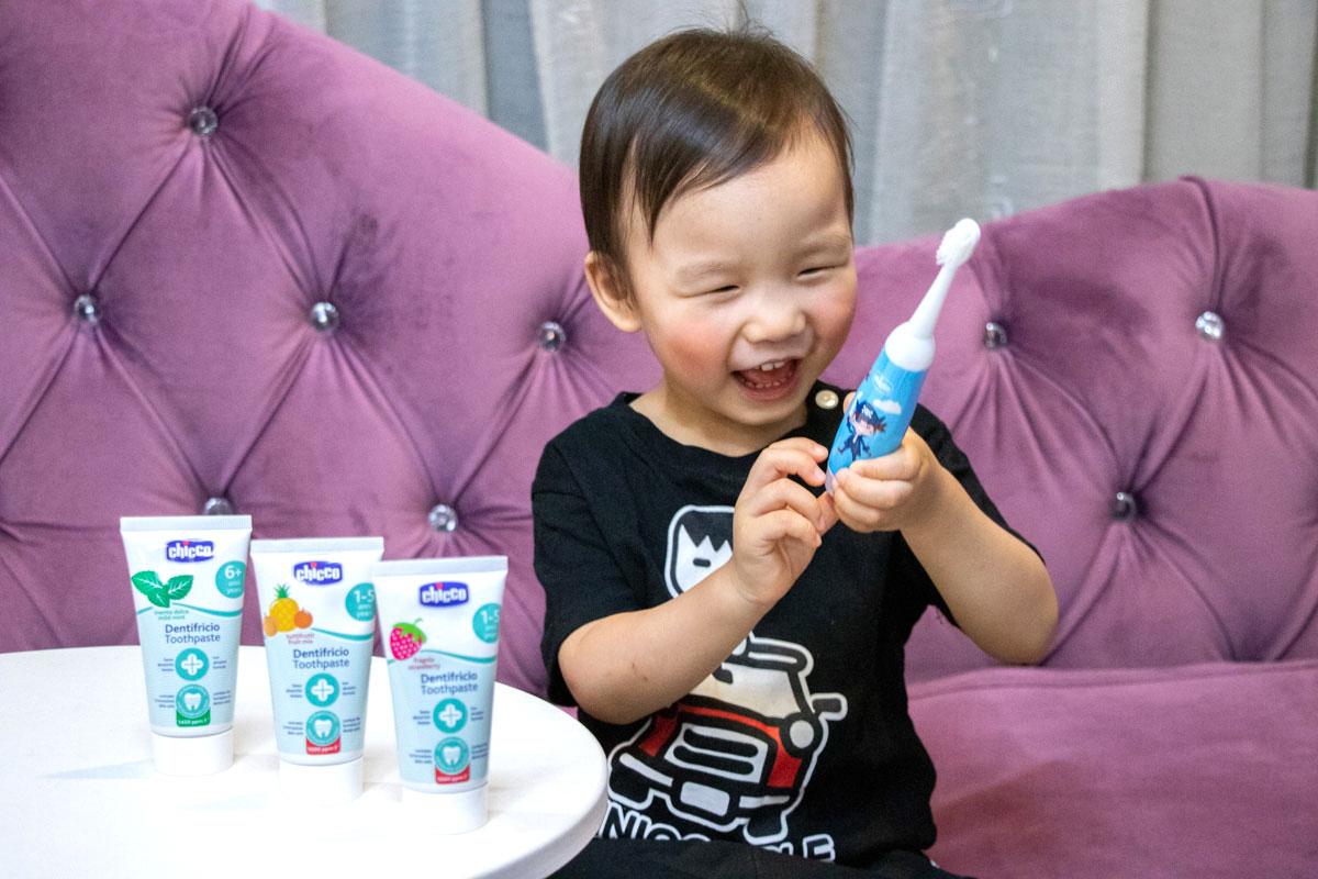 Chicco電動牙刷 Chicco天然木醣醇牙膏,寶寶學習牙刷推薦,寶寶牙刷、兒童牙刷牙膏,義大利牙醫協會推薦