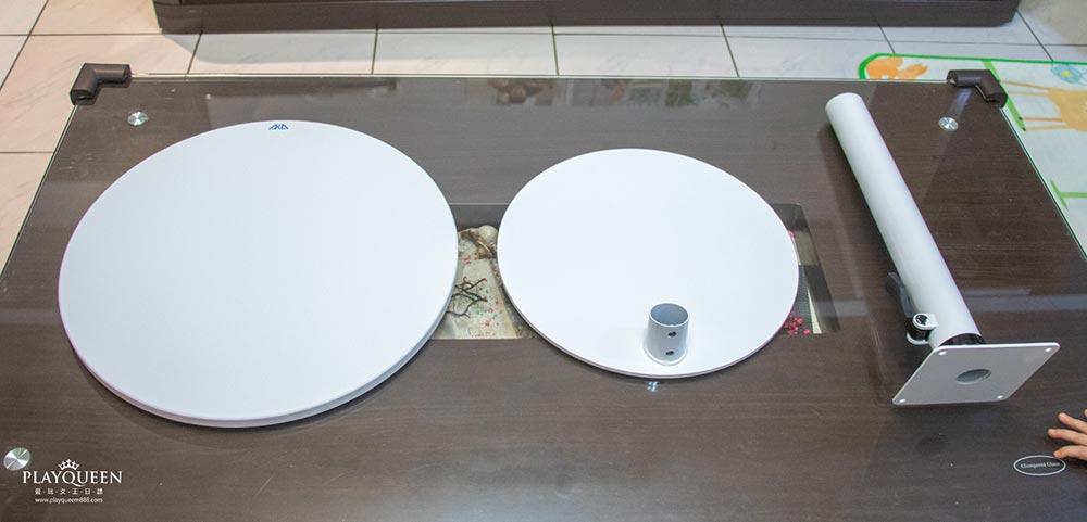 AKA圓形移動式升降邊桌